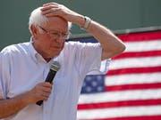 Zum ersten Mal vom Alter eingeholt: Bernie Sanders, Trump-Rivale und immer erngiegeladen. (Bild: KEYSTONE/EPA/CJ GUNTHER)