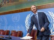 Will keinen Zeitrahmen für eine neue syrische Verfassung: der Uno-Syrienbeauftragte Geir Pederson in Genf. (Bild: Keystone/EPA KEYSTONE/MARTIAL TREZZINI)