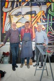 Der Grossauftrag hält Albin Engeler, Martin Stebler und Pascal Engeler drei Monate lang auf Trab.