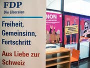 Die FDP zieht wegen eines Wahlkampfsujets des Egerkinger Komitees vor Gericht. Der Ausgang ist offen. (Bild: KEYSTONE/PETER SCHNEIDER)