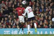 Marcus Rashford (links, im Duell mit Liverpools Joel Matip) war Manchester Uniteds Torschütze zum 1:0 (Bild:key).