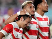 Ausgeträumt: Japans Rugby-Nationalteam scheitert bei der Heim-WM im Viertelfinal an Südafrika (Bild: KEYSTONE/AP/JAE C. HONG)