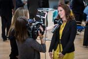 Nina Schläfli (SP) bei einem Interview. (Bild: Reto Martin)