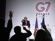 US-Präsident Donald Trump am G7-Gipfel im französischen Biarritz im August 2019. (Bild: KEYSTONE/AP/MARKUS SCHREIBER)