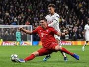 Bayern Münchens Abwehrchef Niklas Süle, hier im Champions-League-Spiel gegen Tottenham Hotspur, fällt mit einem Kreuzbandriss mehrere Monate aus (Bild: KEYSTONE/EPA/ANDY RAIN)