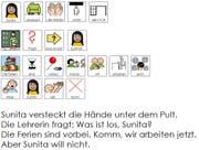 Die erste Seite des Buches mit Metacom-Symbolsprache. (Bild: PD)