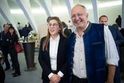 Sie gehören zu den Gewinnern der Nationalratswahl: Franziska Ryser (Grüne) und Thomas Brunner (GLP) eroberten für ihre Parteien jeweils einen Sitz. (Bild: Ralph Ribi)