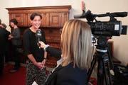 Die SVP-Politikerin Monika Rüegger wurde am Sonntag in den Nationalrat gewählt. Damit ist sie die erste Frau vom Kanton Obwalden, die in Bundesbern politisieren wird. (Bild: Roger Zbinden, Sarnen, 20. Oktober 2019)
