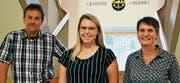 Verstärkung für die Verwaltung (von links): Urs Manser, Amanda John, Rosmarie Sonderegger.Bild: pd