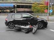 Der Unfallort in Seewen. (Bild: Schwyzer Kantonspolizei)