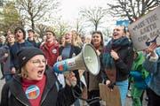 Grüne Jungparteien profitierten bei den Wahlen von der Klimadebatte, wie etwa hier in Form von Protesten. (Bild: Dominik Wunderli, Luzern, 6. April 2019)