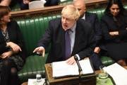 Für den Moment keinen Grund mehr auszurufen: Britischer Premierminister Boris Johnson. (Bild: Keystone)