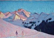 Pastell «Brisenkette im Abendlicht» von Lorenz Huber. (Bild: PD)