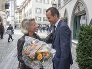 Andrea Gmür dürfte künftig zusammen mit dem bereits wiedergewählten Ständerat Damian Müller für Luzern in der kleinen Kammer politisieren. (Bild: KEYSTONE/URS FLUEELER)