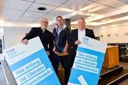 Thomas Gut, Christian Brändli und Thomas Niederberger laden die Kreuzlinger ein, mit ihnen neue Ansätze für die städtische Politik zu diskutieren. (Bild: Donato Caspari)