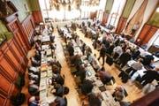 Der Grosse Rat tagte am Mittwoch in Weinfelden. Traktandiert waren unter anderem die Kantonsbürgerrechtsgesuche. (Bild: Donato Caspari)
