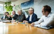 Der Stadtrat Kreuzlingen informierte am Mittwochnachmittag, dass die nötigen Ausnahmebewilligungen für das geplante Stadthaus auf dem Bärenplatz erteilt wurden. (Bild: Reto Martin)
