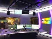 Eines der beiden nigelnagelneuen Studios von Radio FM1 an der Fürstenlandstrasse 122. (Bild: Sacha Gamper – 23. Oktober 2019)