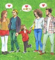 Die Kinder wissen, dass Mama und Papa nicht nur einander lieben.Illustration: Alexia Papadopoulos