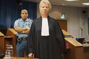 Carla Del Ponte 2003 beim Prozess gegen Slobodan Milosevic. (Bild: Getty Images, 2003, Den Haag)