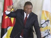 Der Präsident Mosabiks, Felipe Nyusi, hat die Wiederwahl geschafft. (Bild: Keystone/AP/FERHAY MOMADE)