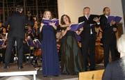 Das Solistenquartett setzte dem Konzert besonderen Glanzpunkte auf. (Bild: Vroni Krucker)