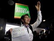 In der Hauptstadt Kolumbiens, Bogotá, wurde mit Claudia López am Sonntag (Ortszeit) erstmals eine Frau zur Bürgermeisterin gewählt. (Bild: KEYSTONE/EPA EFE/JUAN ZARAMA)