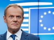 Die EU-Staaten haben sich am Montag in Brüssel auf einen Brexit-Aufschub bis Ende Januar geeinigt. Das teilte EU-Ratspräsident Donald Tusk im Kurznachrichtendienst Twitter mit. (Bild: KEYSTONE/EPA/OLIVIER HOSLET)
