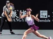 Die Titelverteidigerin Jelina Switolina startete mit einem Sieg in die WTA Finals in Shenzhen (Bild: KEYSTONE/EPA/ALEX PLAVEVSKI)