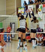 Die Toggenburgerinnen zeigten in Cheseaux erfrischendes Volleyball, konnten aber das Niveau nicht über die ganze Spieldauer halten. (Bild: Reinhard Kolb)
