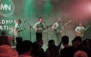 Die Dubliner Band The Led Farmers bestritt mit irischem Indie-Folk-Rock den Hauptact des Abends. (Bild: Ulrike Huber)