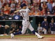 Den Houston Astros mit Carlos Correa fehlt nur noch ein Sieg zum Gewinn der World Series (Bild: KEYSTONE/EPA/JOHN G. MABANGLO)