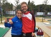 Anna Bandera (Italien) und Beat Wartenweiler (Schweiz) freuen sich über ihre Erfolge. (Bild: Instagram)