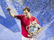 Roger Federer verzichtet nach seinem Turniersieg in Basel auf eine Teilnahme am Turnier in Paris-Bercy (Bild: KEYSTONE/ALEXANDRA WEY)
