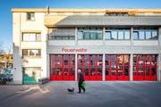Das Depot der Berufsfeuerwehr St.Gallen an der Notkerstrasse 44. (Bild: Urs Bucher - 3. November 2017)