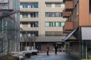 Die Stimmberechtigten von Ebikon – im Bild das Zentrum mit dem Gemeindehaus links – sollen am 17. November über das Budget befinden. (Bild: Boris Bürgisser, Ebikon, 18. Januar 2019)