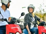 Mobility stellt ihr Scooter-Angebot in Zürich wegen fehlender Rentabilitätsperspektiven ein. (Quelle: Mobility) (Bild: Keystone/obs/Mobility)