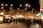 Die Stadtsanktgaller Weihnachtsbeleuchtung «Aller Stern» wird am 28. November, 19 Uhr, mit der sogenannten Sternenvernissage zum zehnten Mal feierlich in Betrieb genommen. (Bild: PD)
