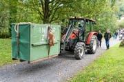 So wurde die Bärin in den Tierpark Goldau gebracht. (Bild: Natur- und Tierpark Goldau)