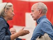 Silvia Bär, stellvertretende Generalsekretärin der SVP, tritt per Ende Jahr von ihrem Posten zurück. (Bild: KEYSTONE/PATRICK HUERLIMANN)