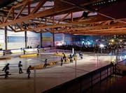 Das Bild zeigt die letztjährige Ausgabe des Skateathons in der Zuger Academy-Arena. (Bild: PD/Philipp Hegglin)