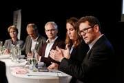 Die Thurgauer Ständeratskandidaten beim TZ-Podium im September. (Bild: Donato Caspari)
