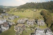 Neben dem Restaurant Röthelberg entstehen in den nächsten zwei Jahren vier Mehrfamilienhäuser. (Visualisierung: PD)
