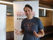 Fabian Munz, Investor, präsentiert sein Projekt auf Einladung von Gewerbe Kreuzlingen. (Bild: Martina Eggenberger)