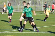 Sportschülerin Gentina Canolli beim Training in Bürglen. (Bilder: Donato Caspari)