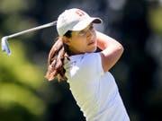 Albane Valenzuela ist eine junge Golferin mit ausserordentlicher Begabung (Bild: KEYSTONE/JEAN-CHRISTOPHE BOTT)