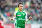 Jérémy Guillemenot ist einer der jungen Spieler des FC St.Gallen, der für die Nachwuchs-Nationalmannschaften aufgeboten wird. (Bild: Urs Bucher)