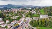 Blick vom Riethüsli aus über die Stadt St.Gallen. Wo die Grundstücke liegen, die Stadt und Ortsbürgergemeinde tauschen wollen. (Bild: Urs Bucher, 25.September 2019)