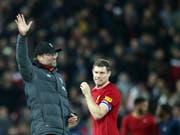 Jürgen Klopp und Liverpool ringen im Ligacup Arsenal im Penaltyschiessen nieder (Bild: KEYSTONE/AP/JON SUPER)