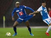 Blessing Eleke bringt Luzern im Cup gegen GC in den Schlussminuten den Sieg (Bild: KEYSTONE/ENNIO LEANZA)